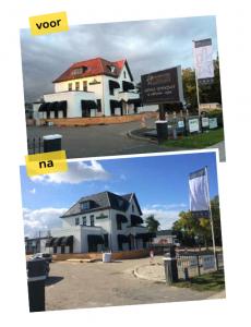 Dakcoating voorbeeld voor en na foto